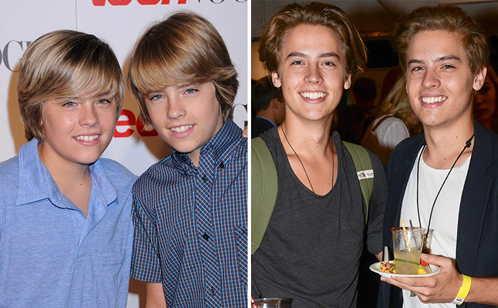 Then vs Now | Promis, Serien, Photoshooting |Cole And Dylan Sprouse Then And Now